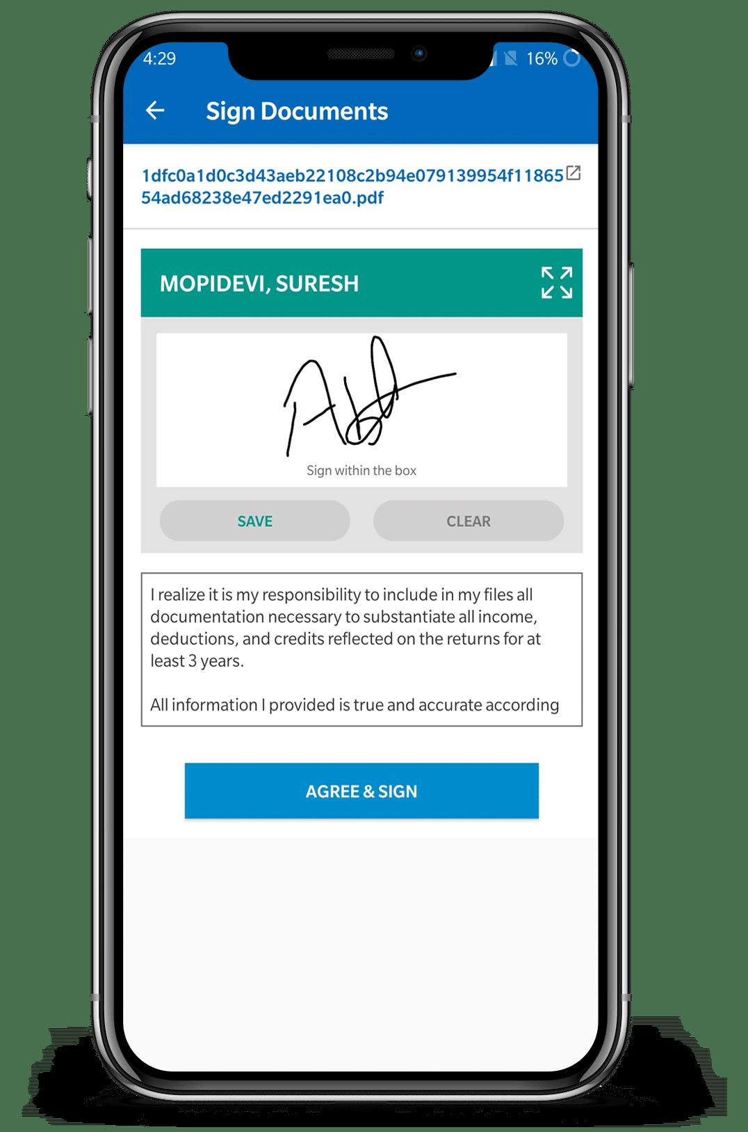 E- signature
